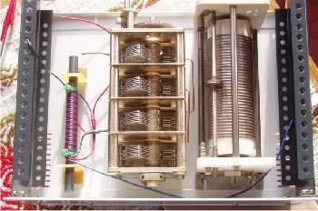 Tunner antenna with coil with caster and 4 CV isolated